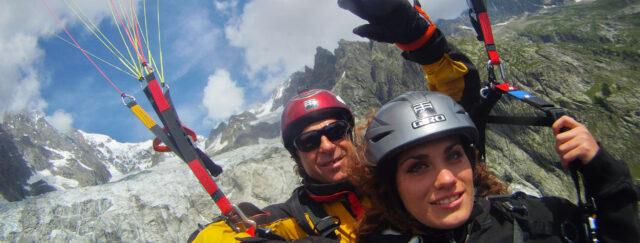 parapendio sul Monte Bianco con Totem Adventure - homepage banner