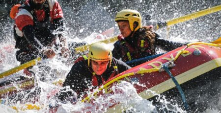 aboard totem adventure rafting