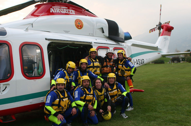 helicopter rescue exercise